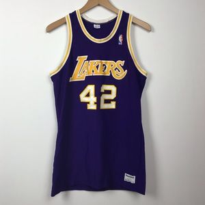🔥Vintage Sand Knit Los Angeles Lakers Jersey 42